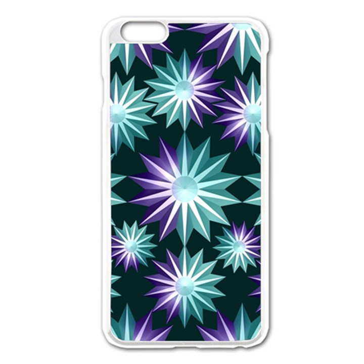 Stars Pattern Christmas Background Seamless Apple iPhone 6 Plus/6S Plus Enamel White Case