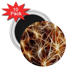 Star Golden Christmas Connection 2 25  Magnets (10 Pack)  by Nexatart