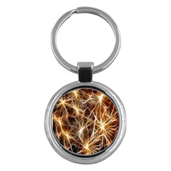 Star Golden Christmas Connection Key Chains (round)  by Nexatart