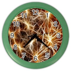 Star Golden Christmas Connection Color Wall Clocks by Nexatart