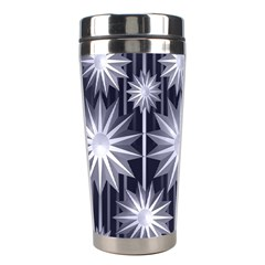 Stars Patterns Christmas Background Seamless Stainless Steel Travel Tumblers by Nexatart