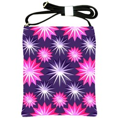 Stars Patterns Christmas Background Seamless Shoulder Sling Bags