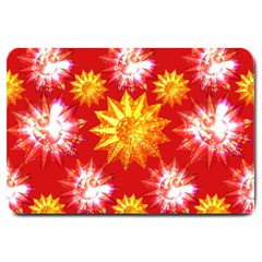 Stars Patterns Christmas Background Seamless Large Doormat  by Nexatart