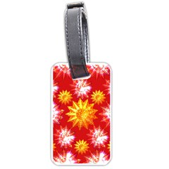 Stars Patterns Christmas Background Seamless Luggage Tags (one Side)