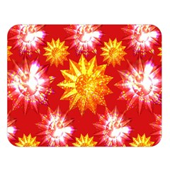 Stars Patterns Christmas Background Seamless Double Sided Flano Blanket (large)  by Nexatart