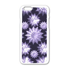Stars Patterns Christmas Background Seamless Apple Iphone 6/6s White Enamel Case