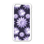 Stars Patterns Christmas Background Seamless Apple iPhone 6/6S White Enamel Case Front