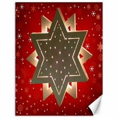 Star Wood Star Illuminated Canvas 12  X 16