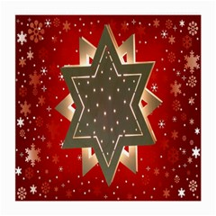Star Wood Star Illuminated Medium Glasses Cloth (2 Side) by Nexatart
