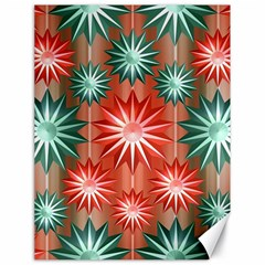 Stars Patterns Christmas Background Seamless Canvas 18  X 24