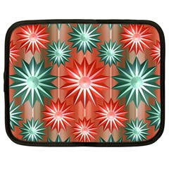 Stars Patterns Christmas Background Seamless Netbook Case (large) by Nexatart