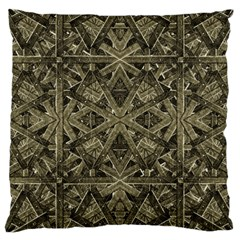 Futuristic Polygonal Large Cushion Case (two Sides) by dflcprints