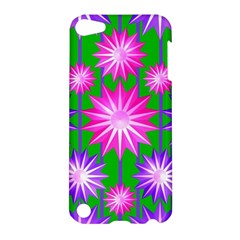 Stars Patterns Christmas Background Seamless Apple Ipod Touch 5 Hardshell Case by Nexatart
