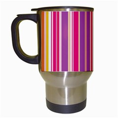Stripes Colorful Background Pattern Travel Mugs (white)