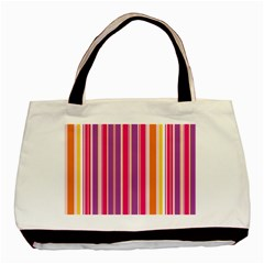 Stripes Colorful Background Pattern Basic Tote Bag (two Sides)