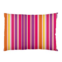 Stripes Colorful Background Pattern Pillow Case by Nexatart
