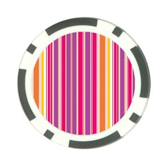 Stripes Colorful Background Pattern Poker Chip Card Guard (10 Pack) by Nexatart