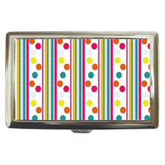 Stripes Polka Dots Pattern Cigarette Money Cases by Nexatart