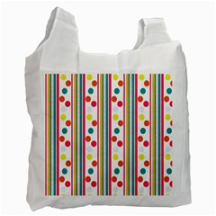 Stripes Polka Dots Pattern Recycle Bag (two Side)