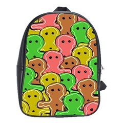 Sweet Dessert Food Gingerbread Men School Bags (xl)  by Nexatart
