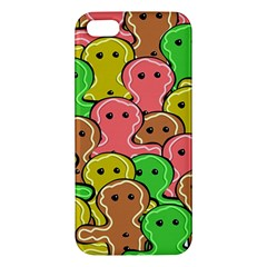 Sweet Dessert Food Gingerbread Men Apple Iphone 5 Premium Hardshell Case