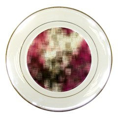 Stylized Rose Pattern Paper, Cream And Black Porcelain Plates by Nexatart
