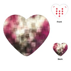 Stylized Rose Pattern Paper, Cream And Black Playing Cards (heart)