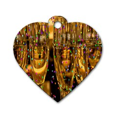 Sylvester New Year S Eve Dog Tag Heart (one Side) by Nexatart