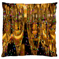 Sylvester New Year S Eve Large Flano Cushion Case (two Sides)