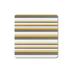 Textile Design Knit Tan White Square Magnet by Nexatart