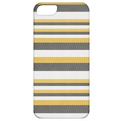 Textile Design Knit Tan White Apple Iphone 5 Classic Hardshell Case by Nexatart