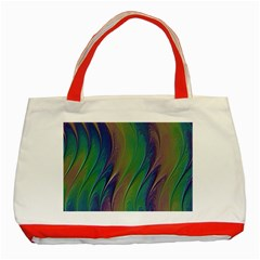 Texture Abstract Background Classic Tote Bag (red)