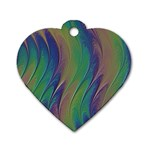 Texture Abstract Background Dog Tag Heart (Two Sides) Back
