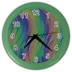 Texture Abstract Background Color Wall Clocks by Nexatart