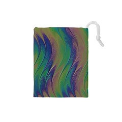 Texture Abstract Background Drawstring Pouches (small)  by Nexatart