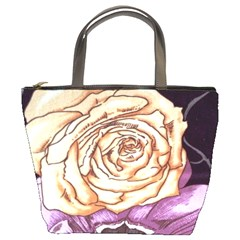 Texture Flower Pattern Fabric Design Bucket Bags