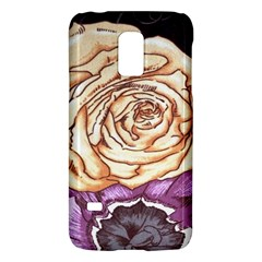 Texture Flower Pattern Fabric Design Galaxy S5 Mini