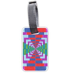 Texture Fabric Textile Jute Maze Luggage Tags (two Sides)