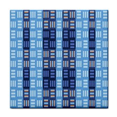 Textile Structure Texture Grid Tile Coasters by Nexatart