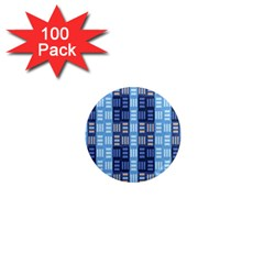 Textile Structure Texture Grid 1  Mini Magnets (100 Pack)