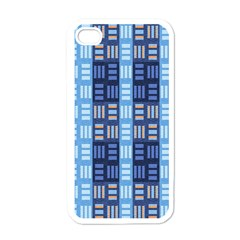 Textile Structure Texture Grid Apple Iphone 4 Case (white) by Nexatart