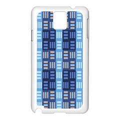 Textile Structure Texture Grid Samsung Galaxy Note 3 N9005 Case (white)