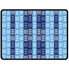 Textile Structure Texture Grid Double Sided Fleece Blanket (large)