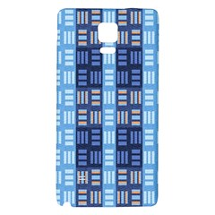 Textile Structure Texture Grid Galaxy Note 4 Back Case by Nexatart