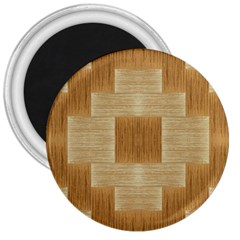 Texture Surface Beige Brown Tan 3  Magnets by Nexatart