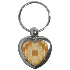 Texture Surface Beige Brown Tan Key Chains (heart)  by Nexatart