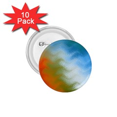 Texture Glass Colors Rainbow 1 75  Buttons (10 Pack)
