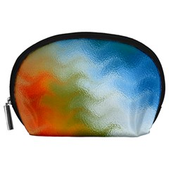 Texture Glass Colors Rainbow Accessory Pouches (large)  by Nexatart