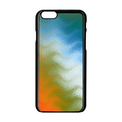 Texture Glass Colors Rainbow Apple Iphone 6/6s Black Enamel Case by Nexatart