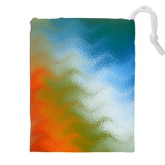 Texture Glass Colors Rainbow Drawstring Pouches (xxl) by Nexatart